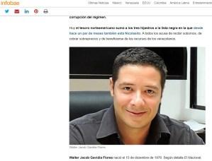 Aclaratoria sobre la foto de Reinaldo Sifuentes erróneamente publicada como de Walter Jacob Gavidia Flores