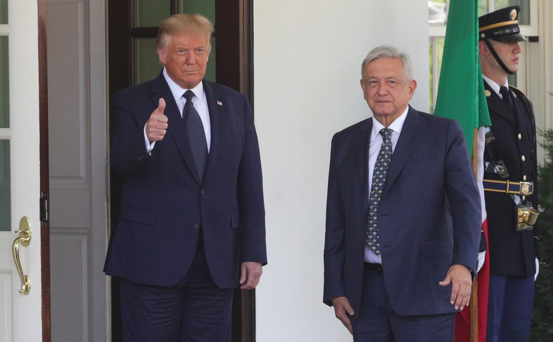 """Trump recibió en la Casa Blanca a su """"amigo"""" López Obrador, con Venezuela en la agenda"""