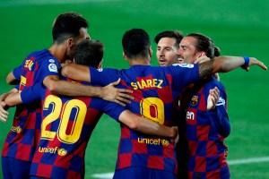 Barcelona mandó al Espanyol a segunda división y sigue en carrera por La Liga