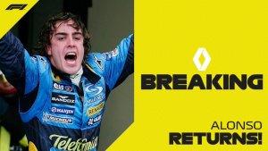 OFICIAL: Fernando Alonso regresa a la Fórmula 1 de la mano de Renault