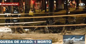 Piloto murió incinerado tras caer con una avioneta en plena avenida de Sao Paulo (Videos)