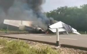 Aeronave derribada en México provenía de Venezuela (Videos)