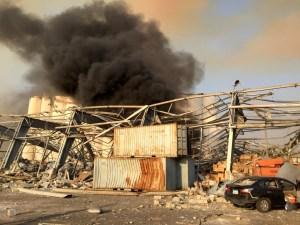 Una potente explosión se produce en la zona del Puerto de Beirut (Fotos+video)
