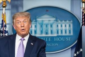 Trump afirma que la vacuna contra el coronavirus podría estar lista antes de las elecciones de noviembre
