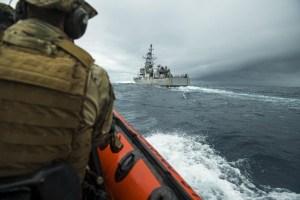 """""""Listos para la acción"""": Estados Unidos desplegó en el Caribe al poderoso USS Tornado (FOTOS)"""
