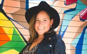 Daniela Gómez creó estampados textiles inspirados en el cinetismo