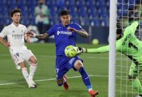 Courtois rescató un empate para el Real Madrid frente al Getafe