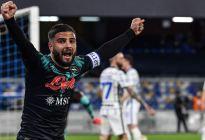 El Napoli frenó la racha del Inter y el AC Milan se acercó a nueve puntos