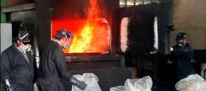 Incautaron e incineraron más de 200 kilos de droga en Lara