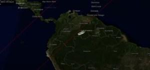 Cada vez más cerca a la superficie terrestre, cohete chino fuera de control pasa por tercera vez sobre Venezuela (VIDEO)
