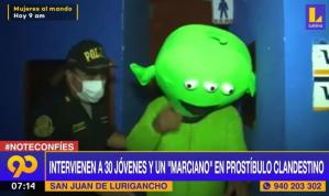 Policía llegó a prostíbulo clandestino en Perú y detuvieron hasta un marciano (VIDEO)