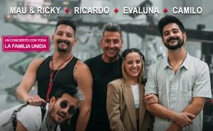 ¡Imperdible! Mau & Ricky, Evaluna, Camilo y Ricardo Montaner en concierto