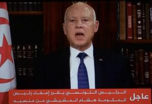 Presidente de Túnez suspendió la actividad parlamentaria y se atribuyó plenos poderes