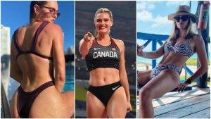 """Alysha Newman, la atleta canadiense que incendia """"Onlyfans"""" a días de participar en los JJOO (Fotos)"""