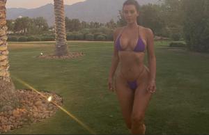 "Kim Kardashian con micro bikini y su cuerpo ""explotado"" paralizó Instagram"