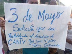 Comunidades de Carabobo denuncian que llevan cinco años sin servicio de Cantv