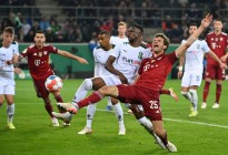 El Monchengladbach aplastó al Bayern Múnich para sacarlo de la Copa de Alemania