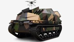EEUU presentó un vehículo robótico terrestre capaz de portar medio centenar de drones kamikaze (VIDEO)
