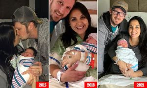 ¡Qué coincidencia! Madre en EEUU dio a luz a sus tres hijos el mismo día en años diferentes